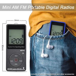 "Image 5 - JINSERTA Tragbare FM/AM Radio Mini Radio Empfänger mit 1,57 ""LCD Display FM76 108MHZ, 9 KHZ/10 KHZ Empfänger mit Stereo Kopfhörer"