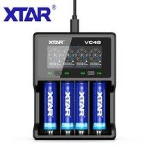 XTAR 18650 LCD شاحن VC4S VC2S VC2 VC2S شاحن يو اس بي ل 3.6V 3.7V بطارية ليثيوم أيون 21700 20700 18650 شاحن بطارية