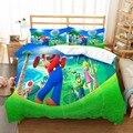 Super Mario Bros. Комплект постельного белья с принтом тропических растений для гольфа  постельное белье с мультяшным рисунком  наволочка  декор дл...