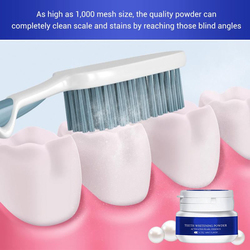 1box Teeth Whitening Powder Toothpaste Tools White Teeth Cleaning Oral Hygiene Toothbrush Gel Remove Plaque Stains 30g