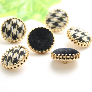 10pcs/lot Cloth Button New Spot Fashion Suit Sweater Button Metal Gold Shank Button for Clothing Accessories Decorative