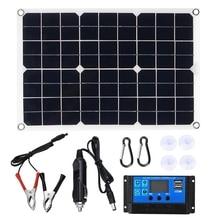 NEW-100W Solar Panel 12V Battery Charger Kit 50A Controller for Caravan Van Boat Dual USB