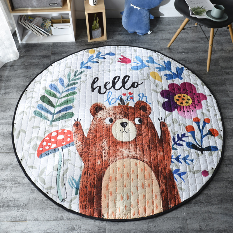 Kid Soft Carpet Rugs Cartoon Animals Fox Baby Play Mats Child Crawling Blanket Carpet Toys Storage Kid Soft Carpet Rugs Cartoon Animals Fox Baby Play Mats Child Crawling Blanket Carpet Toys Storage Bag Kids Room Decoration