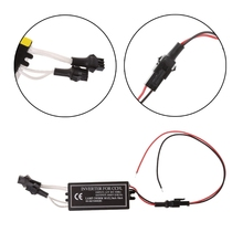 цена на Shockproof 12V Male CCFL Inverter Spare Ballast Halo Angel Eyes Rings Kit For BMW Mazda Lexus High Bright Car Light Accessories