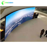 Flexible curve led panel screen indoor p3.91 p4.81 rental full color video