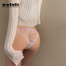 Sexy Women Lace Panties Underwear Seamless Embroidery Thongs G-String Solid Female Briefs Low Rise Lady Lingerie Underpants
