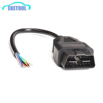 OBD2 16Pin męskie złącze wtykowe dla ELM327 Adapter przedłużający kabel OBD OBDII EOBD ODB2 16 OBD 2 Adapter otwarcia kabel żeński tanie i dobre opinie toobdpro OBD Male Plug 30cm High Plastic Metal Kable diagnostyczne samochodu i złącza 0 08kg OBD2 16Pin Male Plug OBD2 Extension Cable Male For ELM327