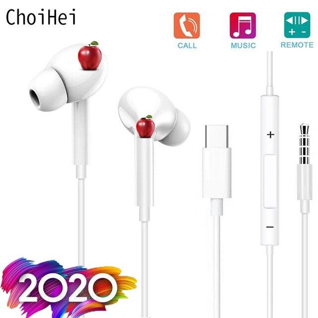 Para xiaomi usb tipo c fone de ouvido com microfone de áudio digital tipo c fones para huawei pixel htc oneplus novos