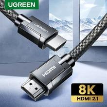 Ugreen 8k hdmi-cabo compatível para xiaomi mi caixa 8k/60hz 4k/120hz 48gbps cabos digitais para ps5 ps4 8k hdmi-compatível com 2.1 cabo