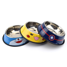 Pets-Supplies-Accessories Feeding-Bowl Stainless-Steel Dog-Feeders Cute Cartoon Pet-Cat-Dog