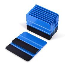 FOSHIO 10PCS ויניל לעטוף סרט כרטיס מגב סיבי פחמן מדבקה לרכב גלישת כלים הרגיש מגרד אוטומטי חלון גוון כלי המוליך