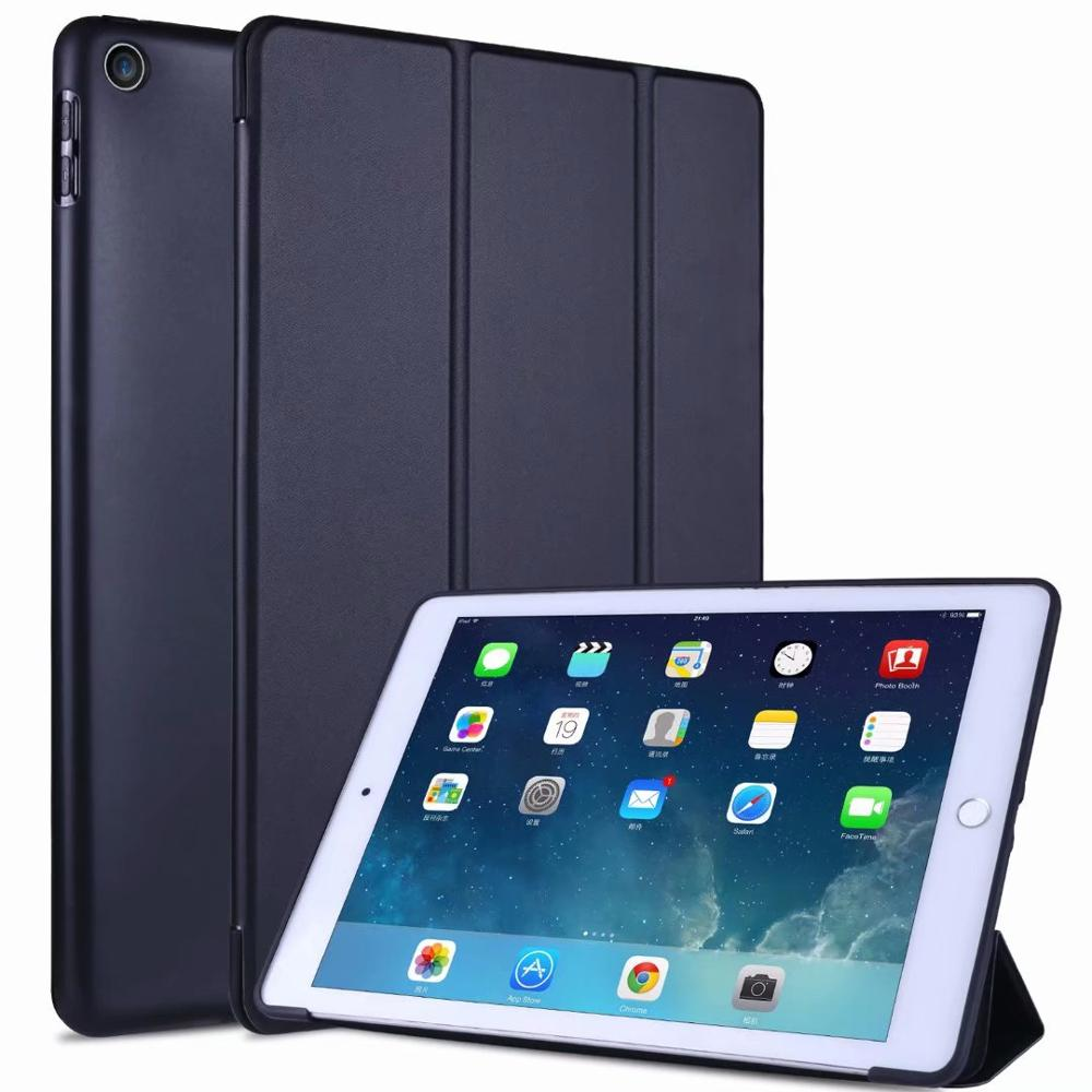 1 Red Slim light Tablet Case For Ipad 10 2 Soft TPU Tri fold Smart Cover For iPad