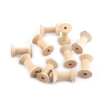 Free Shipping wholesale 100pcs Mixed Size 2.5cm/3cm/4cm/5cm/Natural color Wooden Bobine Classic style DIY tool wood roll Spool