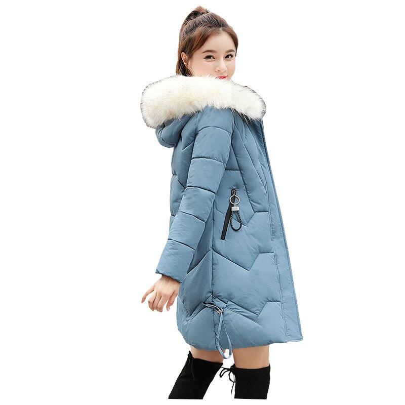 Chic Fur Coat Hooded Winter Down Coat Warm Jacket Plus Size Long Slim Women Cotton Padded Wadded Parkas Female Jacket 06