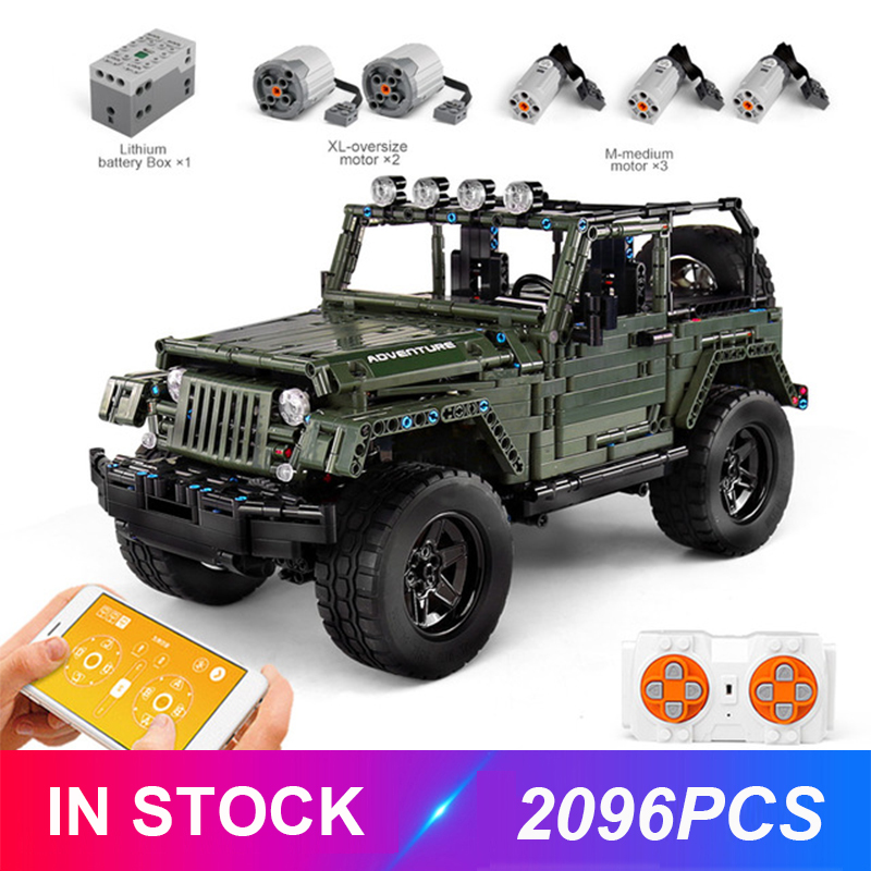 Mould King 13124 Technic RC Jeeps Wrangler Adventure Off-road Compatible MOC-30014 Building Blocks Bricks Educational Toys Gifts