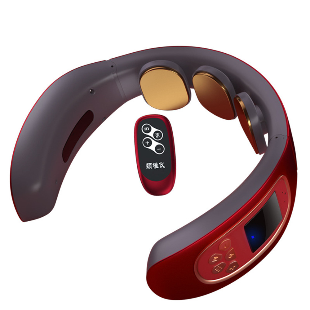 4d умный Электрический массажер для шеи и спины с импульсом, десятки беспроводных тепловых шейных позвонков, расслабляющий массажный аппарат для разминания боли|Шея массажный инструмент|   | АлиЭкспресс