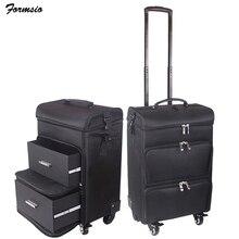 女性化粧品袋美容スーツケーストロリー大化粧品ボックスプロ