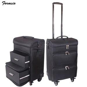 Image 1 - Femmes ongles cosmétique sac beauté valise trolley grand cosmétique maquillage boîte professionnel