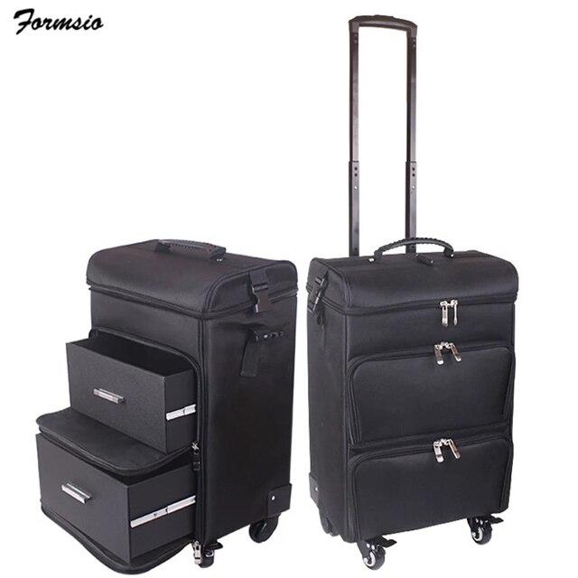 Femmes ongles cosmétique sac beauté valise trolley grand cosmétique maquillage boîte professionnel