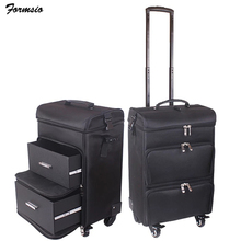 women nail Cosmetic bag beauty suitcase trolley large Cosmetic makeup box professional