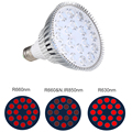 E27 Red LED Light Bulb 54W 660nm Red Light Therapy Lamp 850nm Infrared LED Light Therapy/ Par38 Grow Bulb