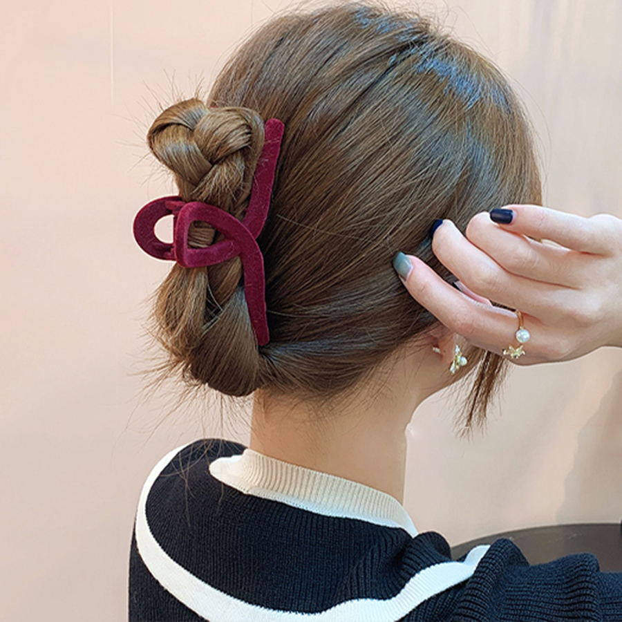 Женский зажим для волос Haimeikang, черный пластиковый зажим для волос большого размера