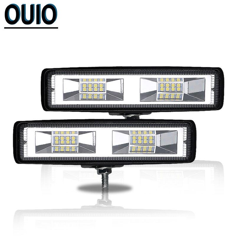 Car Light 48W 6inch 12 Volt LED Bar Off-road Truck Boat Barra Led Lighting 4x4 Accessories Work Driving Lamp