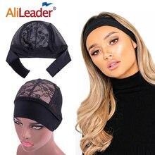 Alileader кружевное плетение Кепки с регулируемым парик сцепление