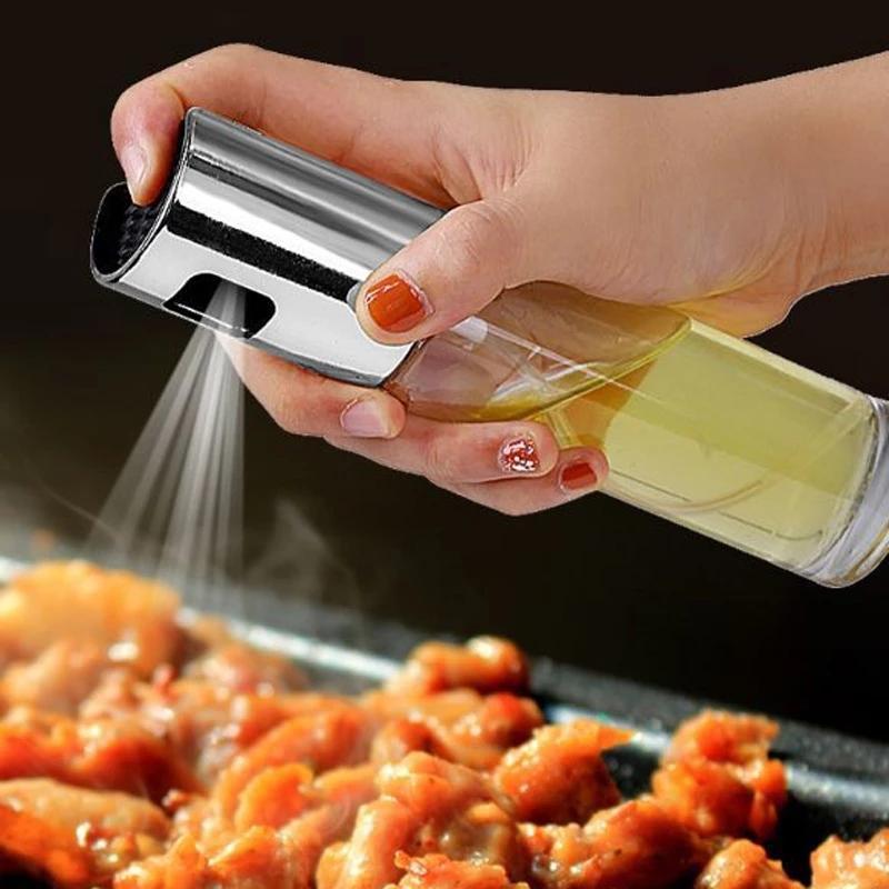 Бутылка-распылитель для масла, выпечка, барбекю, оливковое масло, уксус, бутылки с распылителем воды, соусники, гриль, опрыскиватель для барб...