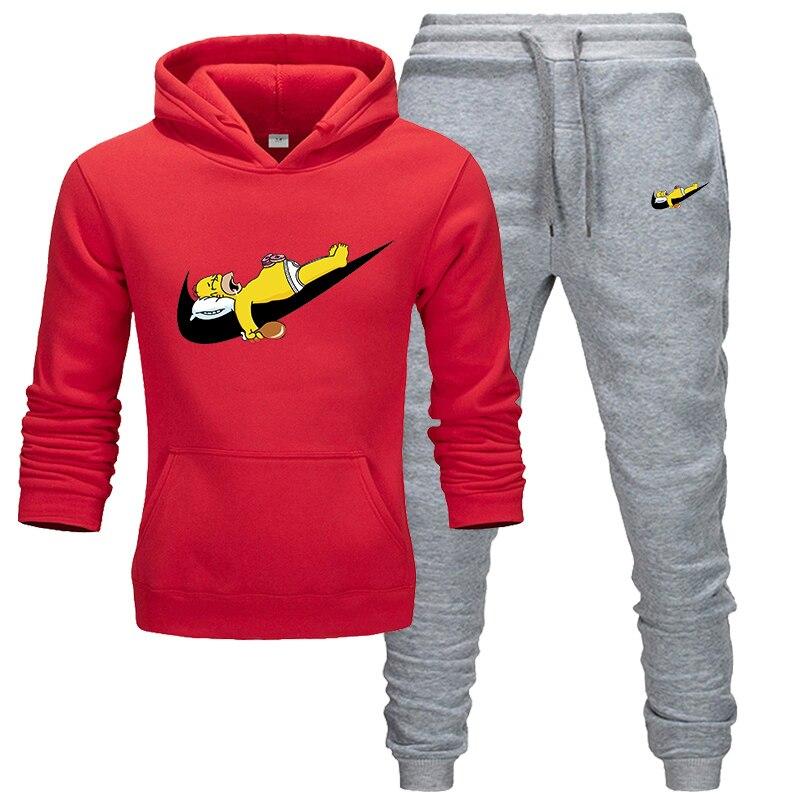New Hot Two Pieces Set Fashion Hoodies Sportswear Men Tracksuit Hoodie Autumn Men Brand Clothes Hoodies+Pants Sets