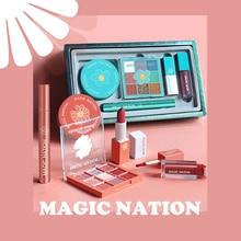 Makeup-Set Pearlescent Eyeshadow Lipstick Lip-Glaze Matte Velvet Mascara Waterproof 5pcs
