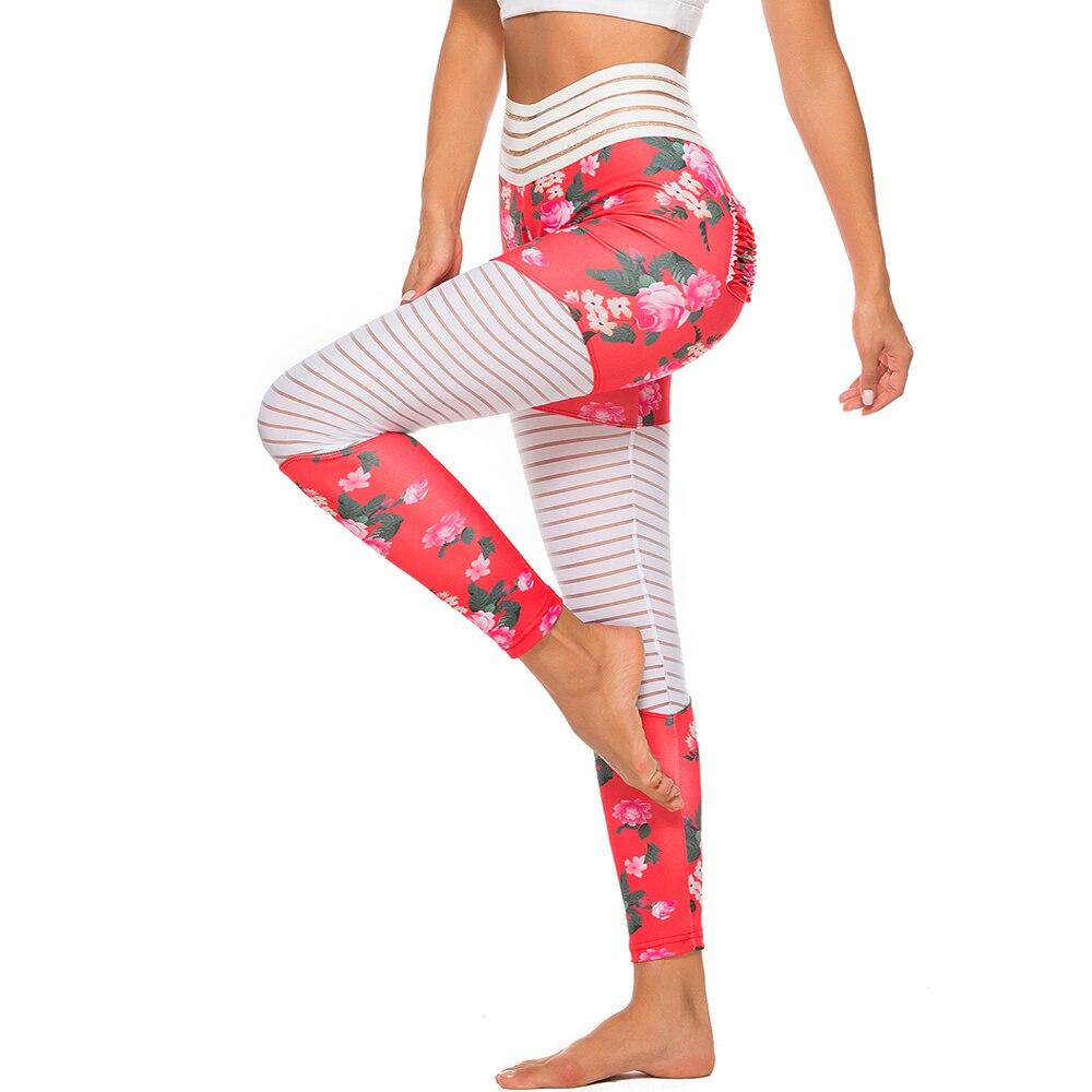 Women Floral Printed Push Up Leggings 17