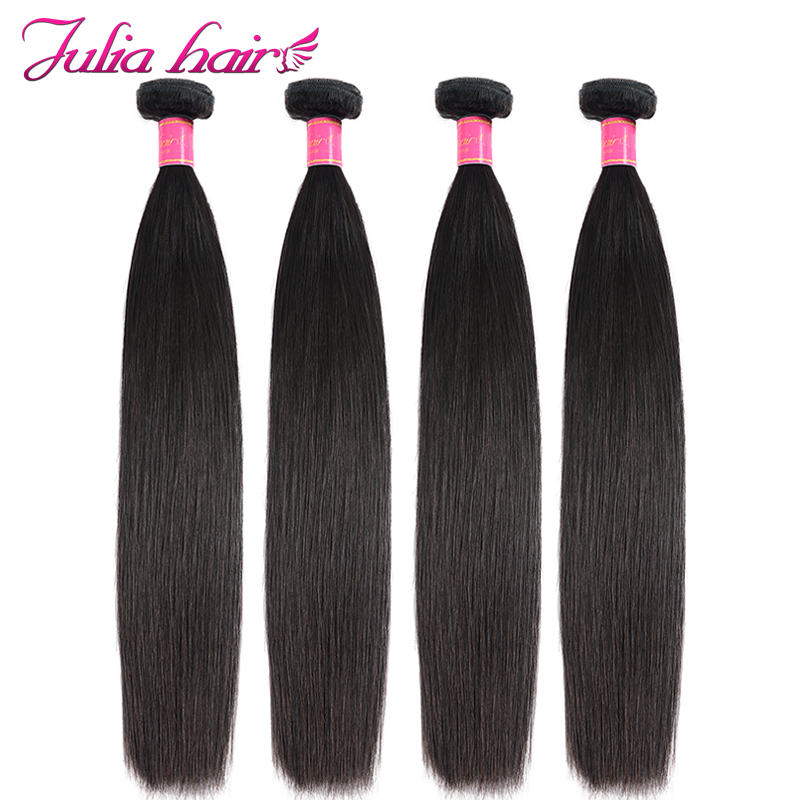 Julia Hair 8 to 30 inch Human Hair Bundles Malaysian Straight Hair Weave Double Machine Weft Remy Hair Extensions1PC 3PC 4PC-in Hair Weaves from Hair Extensions & Wigs on AliExpress - 11.11_Double 11_Singles' Day 1