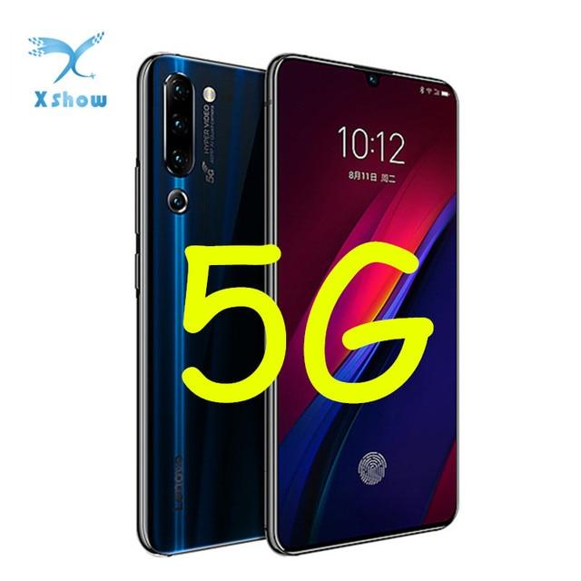 "5G Lenovo Z6 Pro Global Rom Snapdragon 855 8GB RAM 256GB ROM 6.39"" FHD Display Smartphone 48MP Quad Cameras  Cellphones"