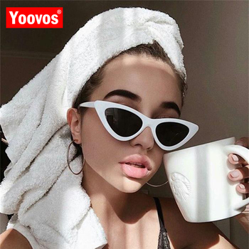 Yoovos Cateye Sunglasses Women 2019 Retro Cat Eye Brand Design Luxury Vintage Oculos Feminino