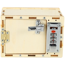 DIY Wooden Password Box Model Building Kits Baby Kids Toys for Children Science Projects Experiment Kits Set