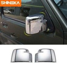 SHINEKA-cubiertas de espejo para Suzuki jimny, accesorios de decoración de carcasa de espejo retrovisor para Suzuki jimny 2007 Up