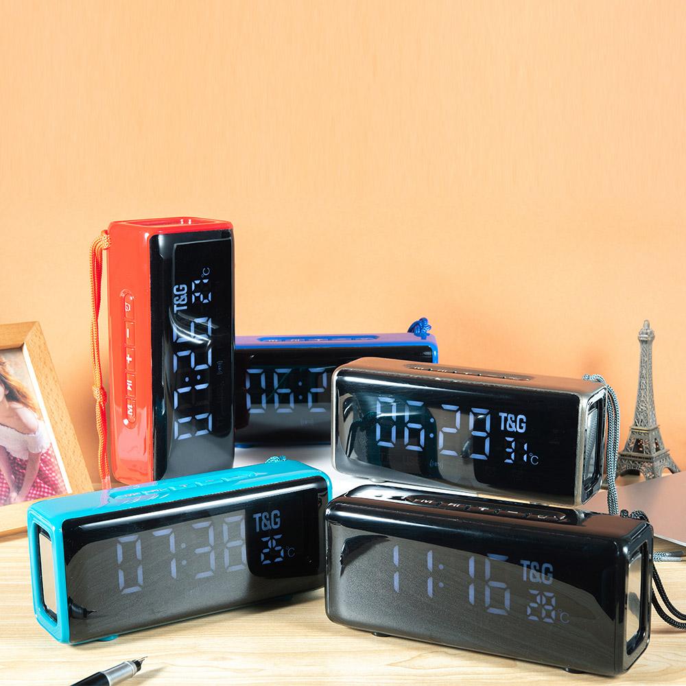 Домашний bluetooth динамик портативный дисплей с отображением