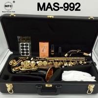 Music Fancier Club Alto Saxophone MAS 992 Black Lacquer With Case Sax Alto Mouthpiece Ligature Reeds Neck Musical Instrument