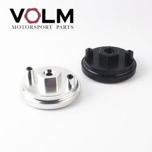 Image 1 - auto Aluminum oil filter adapter for oil pressure and oil temperature for bmw e46 e36 e34 car accessories cap03