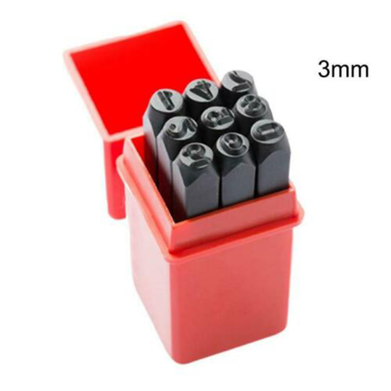 Alphabet or Numbers Stamps Craft Set Letters Punch Steel Case Metal Leather Tool