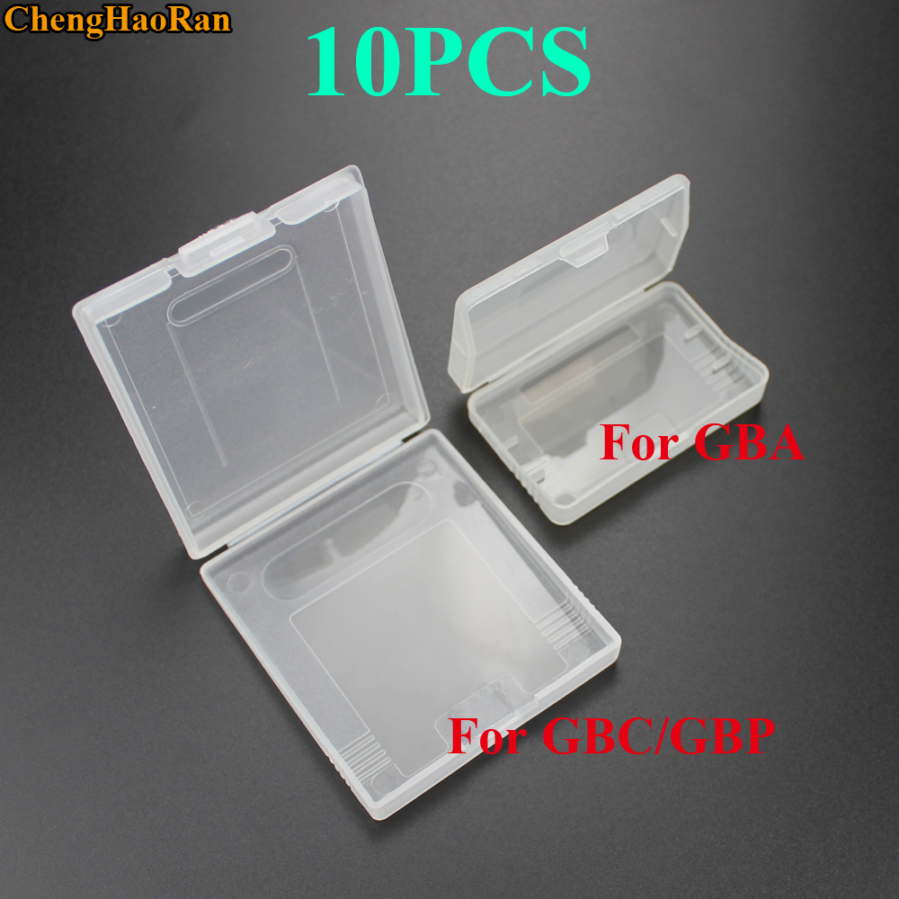 10pcs Game Cartridge Plastic Cases Game Cards Storage Box For Nintendo GameBoy Pocket GBA GBC GBP Protector Holder Cover Shell