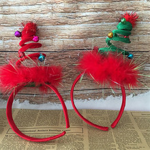 Рождественская весенняя шапка с перьями Женская рождественская шапка Санты повязка для волос застежка головной убор наголовный обруч вечерние Рождественский подарок