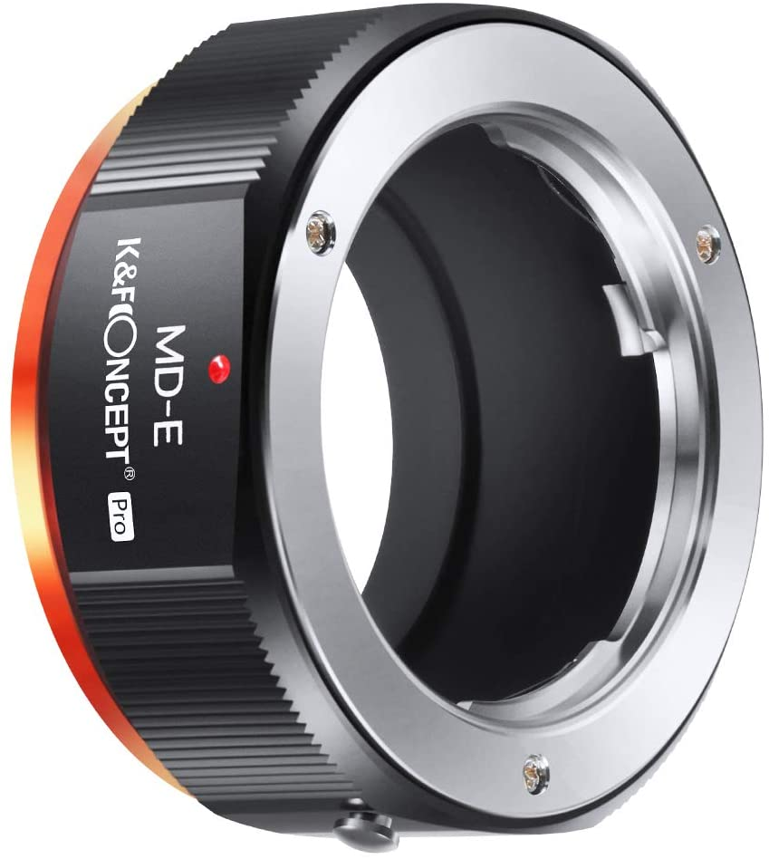 K&F Concept MD-NEX PRO MD To NEX Lens Mount Adapter For Minolta MD MC Mount Lens To NEX E Mount Cameras With Matting Varnish