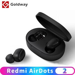 Image 1 - Xiaomi Redmi AirDots 2 bezprzewodowe słuchawki Bluetooth 5.0 słuchawki douszne stereo bass Ture bezprzewodowe słuchawki douszne AI Control