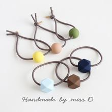 2020 New Pure Color Tie Hair Head Band Simple Fashion Famale Hair Rope Hair Accessories Girl Hair Ring Rubber Band Hair Rope wild hair band female striped wild color large intestine ring elastic band hair ring hair rope hair accessories coconut tree