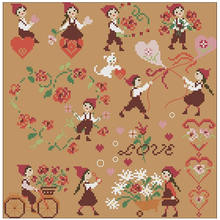 Fall in love patterns counted cross stitch 11ct 14ct diy wholesale