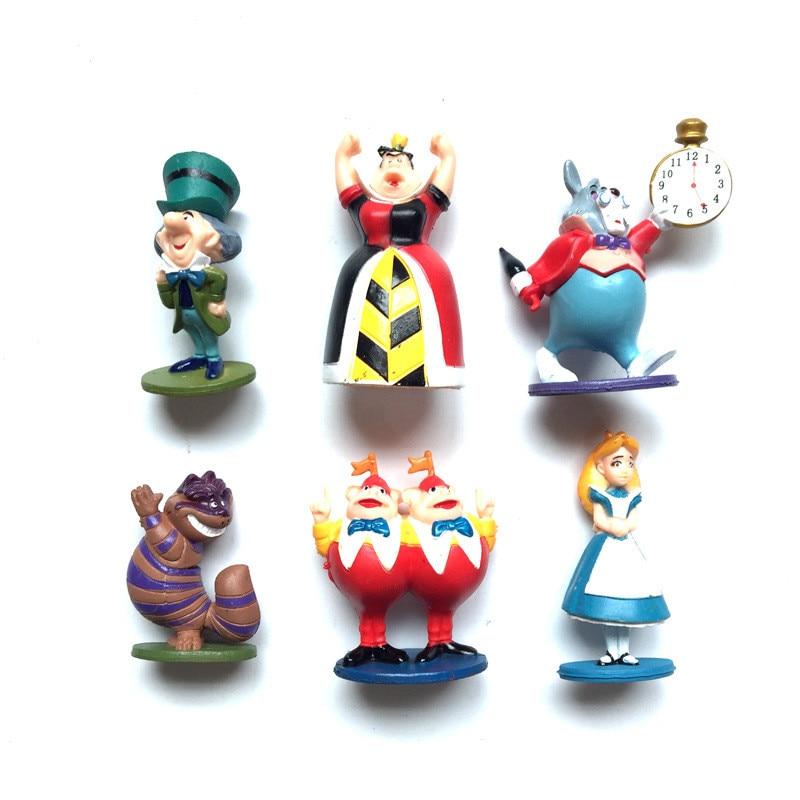6 шт./компл. Алиса в стране чудес цифры Disney аниме Принцесса ПВХ фигурки Куклы Коллекционные игрушки для детей, подарок для девочек