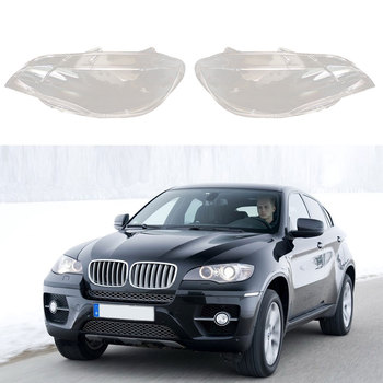 Headlights Lens Cover Headlamps Transparent Lampshades Lamp Shell Masks Front Left For BMW X6 E71 2008-2013 Replacement Mar17