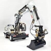1/14 RC 946EW Remote Control Metal Hydraulic Wheel Excavator Model Construction Machinery Adult Toy Birthday Gift
